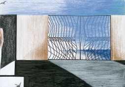 USCITE DI LUCE 42x30 cm pastelli a cera 2013