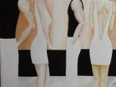 INCONTRI ORTOGONALI 42x30 cm inchiostro e pastelli 2012