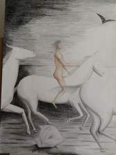 CORSA A DIO 70x100 cm pastelli 2013