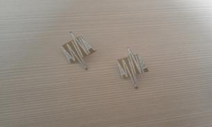 orecchini con clips. alluminio